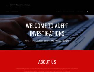 adeptinvestigations.co.uk screenshot