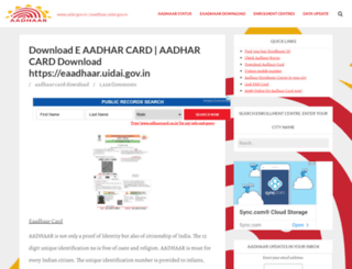 adhaarcard.co.in screenshot