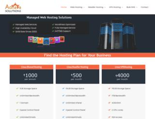 adhavahost.com screenshot