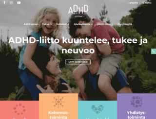 adhd-liitto.fi screenshot