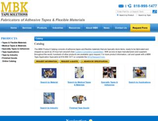 adhesive-tape-converting.mbktape.com screenshot