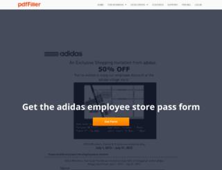 adidas-employee-store-pass.pdffiller.com screenshot