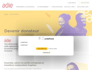 adie-fondsdedotation.org screenshot