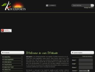 adiexports.in screenshot