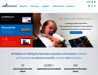 adinstruments.com screenshot