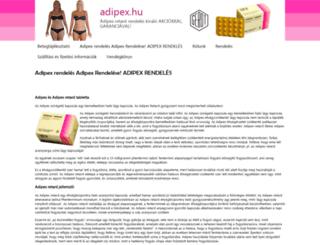 adipex.hu screenshot