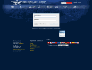 adirondack.campintouch.com screenshot