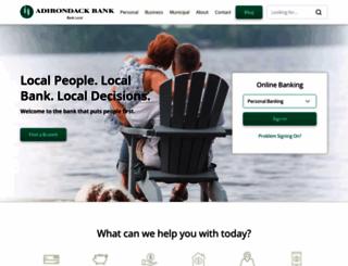 adirondackbank.com screenshot