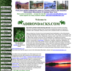 adirondacks.com screenshot