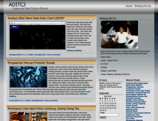 aditcj.wordpress.com screenshot