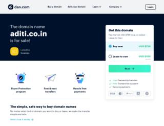 aditi.co.in screenshot