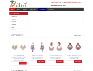 aditrifashion.com screenshot