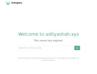 adityashah.xyz screenshot