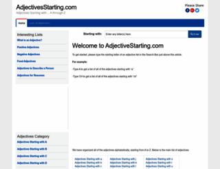 adjectivesstarting.com screenshot