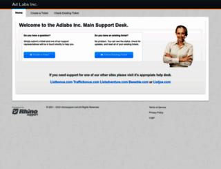 adlabs.rhinosupport.com screenshot