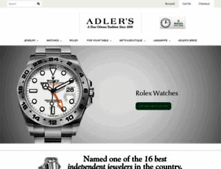 adlersjewelry.com screenshot