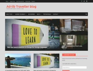 adlibtraveller.com screenshot