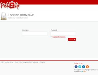 adm.pickzup.com screenshot