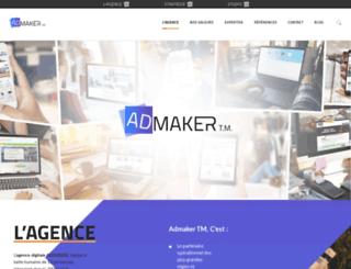 admaker.fr screenshot