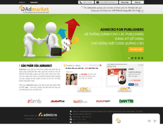 admarket.admicro.vn screenshot