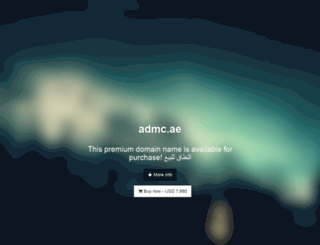 admc.ae screenshot