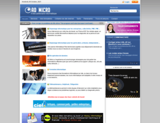 admicro.fr screenshot