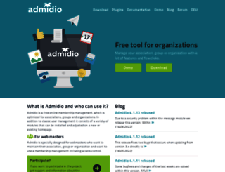 admidio.org screenshot