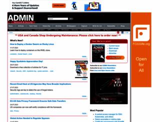 admin-magazine.com screenshot