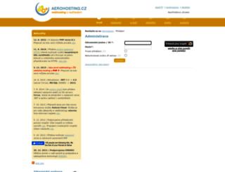 admin.aerohosting.cz screenshot