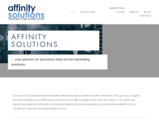 admin.affinitysolutions.com screenshot