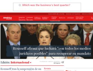 admin.americaeconomia.com screenshot