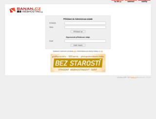 admin.banan.cz screenshot