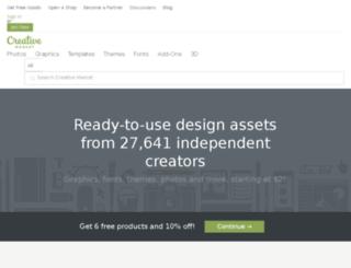 admin.creativemarket.com screenshot