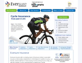 admin.eversure.com screenshot