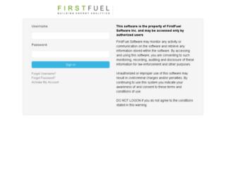 admin.firstfuel.com screenshot