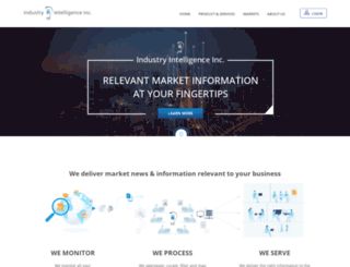 admin.industryintel.com screenshot