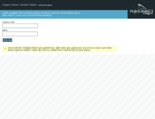 admin.kazancihukuk.com screenshot