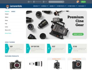 admin.lensrentals.com screenshot