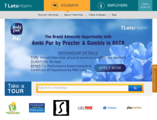 admin.letsintern.com screenshot