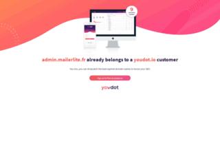 admin.mailerlite.fr screenshot