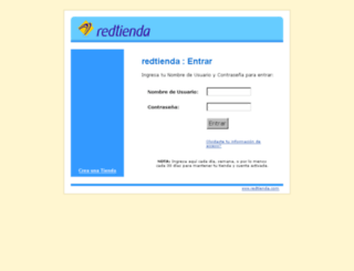 admin.redtienda.net screenshot