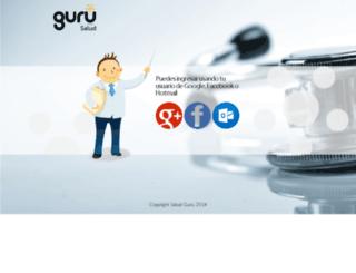 admin.saludguru.com screenshot