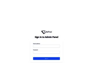 admin.suitepad.de screenshot