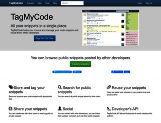 admin.tagmycode.com screenshot