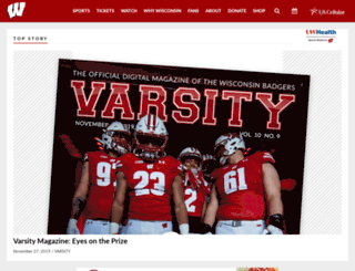 admin.uwbadgers.com screenshot
