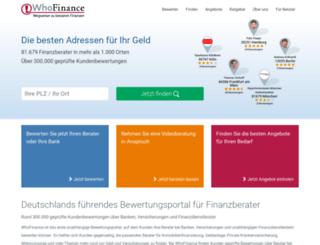 admin.whofinance.de screenshot