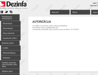 admin3.dezinfa.lv screenshot