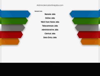 adminclericalonlinejobs.com screenshot