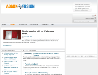 adminfusion.com screenshot
