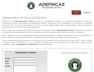 administradoresfincasvaldemoro.com screenshot